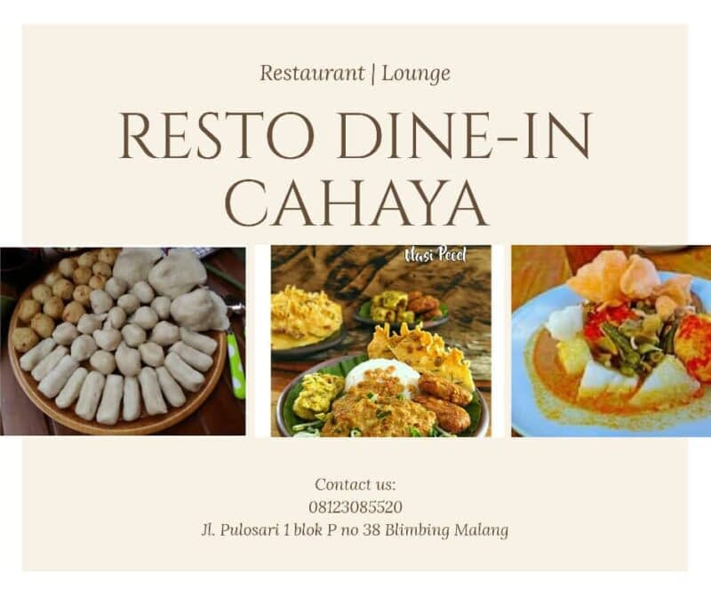 Resto Dine-In Cahaya