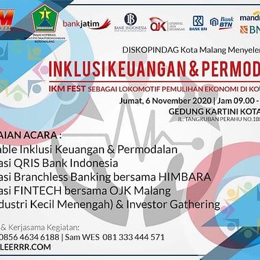 Form Pendaftaran Workshop Zona Inklusi Keuangan dan Permodalan